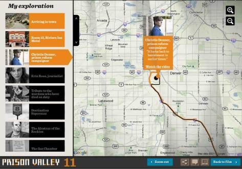 Prison Valley's user navigation interface