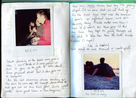 The first of many, Diary detail (2003)