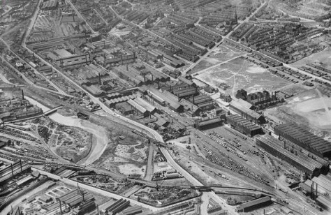 The Atlas and Norfolk Steel Works, Sheffield, 1947