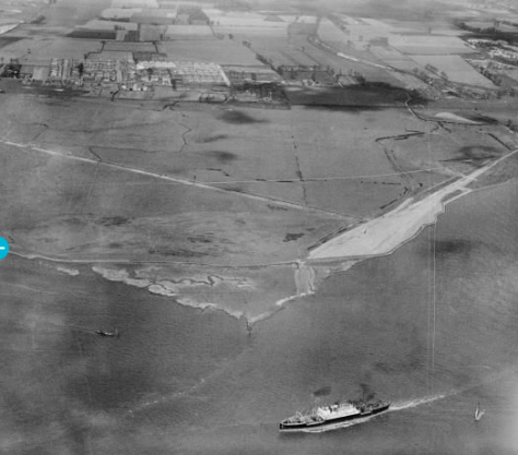 The West Thurrock Marshes and Stoneness Lighthouse, Stone Ness, (1929)