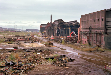 A Christmas reverie 3. Atlas works. This is 1987 and shows the demolition of the massive Atlas Works. Adrian Wynn