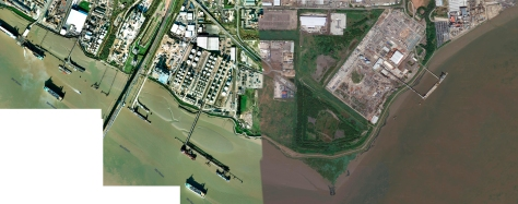 North Thames shoreline, Purfleet and west Thurrock